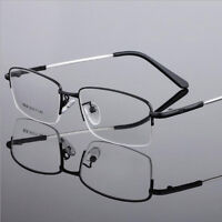 Short Sighted Glasses Myopia Distance Lens Metal Memory Frame-1.0~-6.0 Black Men