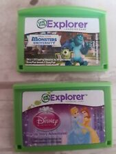 2 LEAP PAD GAMES MONSTERS UNIVERSITY & DISNEY PRINCES Leapfrog Leappad 2 3 Ultra