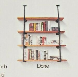 4 shelf Industrial Look  DIY Pipe Shelf Bookshelf