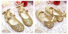 Fashion Kids Girls Gold Ballerina Shoes Princess Party Shoes Kids size 2
