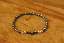 Hematite Chotki Style Bracelet with Cross and Beads Christian