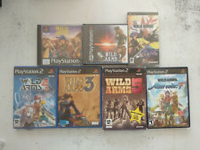 Lot collection 7 jeux saga Wild Arms 1/2/3/4/XF/5/Alter code F PS1/PS2/PSP FR/US