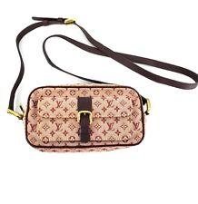 Louis Vuitton Red Burgundy Fabric Monogram Mini Lin Juliette Crossbody Bag 08020