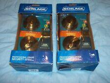 TWO SCHLAGE DOOR LOCK DEADBOLTS KEYED ALIKE B36ON 609 NEW IN BOX