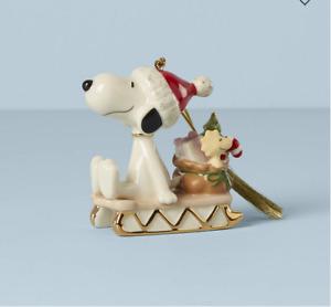 Lenox Snoopy Sledding Into Holidays Woodstock New 2021 887759 Peanuts Christmas