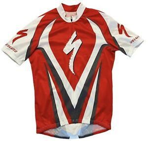 SPECIALIZED CYCLING JERSEY MENS MEDIUM RED WHITE EXPERT PRO
