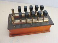 * Philip Harris Plug Type Resistance Box {Physics} - Vintage & Rare