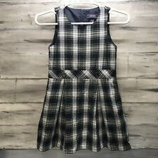 📚�Land'S End Girls' Size 10 Green Plaid School Uniform Jumper Euc! �📚