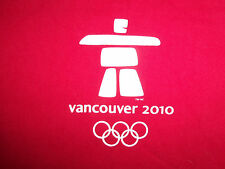 World Olympics Vancouver Canada 2010 Red Graphic Print T Shirt - L