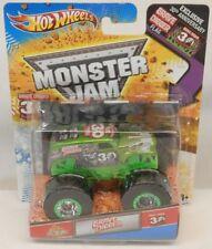 Hot Wheels Monster Jam 30th GRAVEDIGGER Green Chrome Panel Truck MOC 1:64 w/Flag