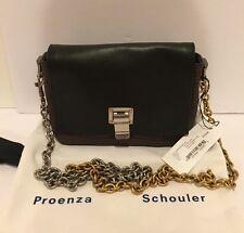 Proenza Schouler PS Tiny Courier Shoulder Bag Purse Leather Black Espresso $1410
