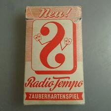 Radio Tempo Zauberkartenspiel 1. Version um/ab 1950 (46092)