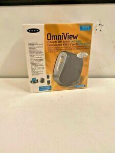 Belkin SOHO Omniview 2-Port KVM Switch With Audio - model F1DS102TF Brand New