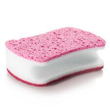 Cotton + mesh Magic Sponge Brush Kitchen Home Washing Cleaning Cleaner Tool Pink