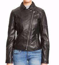 BAGATELLE Black Genuine Lamb Leather Jacket  size S -