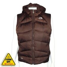 The North Face 550 Down Vest Jacket Quilted Puffer Brown Womens Medium (blemish)