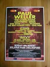 V96 FESTIVAL ADVERT - PAUL WELLER, CHARLATANS, SLEEPER, ORBITAL, TRICKY MENSWEAR