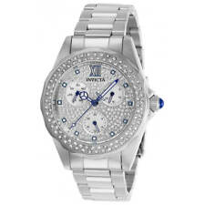 Invicta Women's Watch Angel Crystal Pave White MOP Dial SS Bracelet 28432