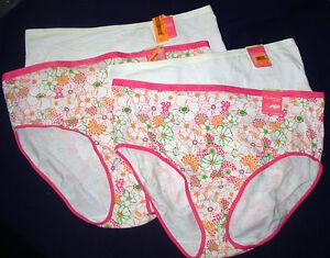 lot 4 Enchanting Plus size 18/20 Hi Cut Brief Panties cotton blend sears  10 11