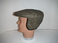 Woolrich cap wool blend tweed Ear flaps Hat earlap Cap HAT New medium