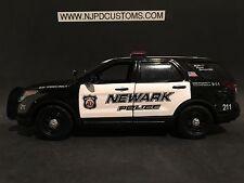 Newark Police NJ 1:24 Scale Ford Explorer SUV Replica