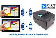 Mobiles Kassensystem für Gastronomie 2xTerminal Bondrucker Kassensoftware/ Kasse