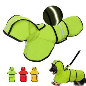 Reflective Pet Raincoat Small Medium Dogs Rain Jacket Waterproof Hoodie Clothes