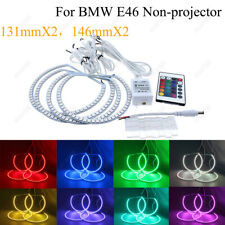 4Pcs RGB Angel Eyes Halo Light Ring Bulb For BMW 3 Series E46 SMD Non-Projector