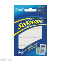 140x Sellotape Permanent Double Sided Sticky Fixers Foam Pads - 12mm x 25mm
