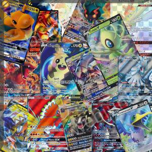50 Pokemon Cards bulk lot – Guaranteed 1 ULTRA RARE GX/EX/V +9x shiny/rares