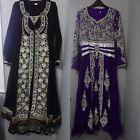 Ladies ReadyMade Suit India Bridesmaid Partywear Anarkali Frock Dress Size:10 UK