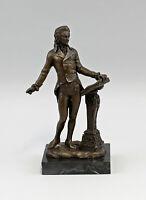 9973048 Skulptur Bronze Figur Mozart Musiker