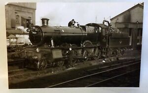 Steam Train 7823, Hook Norton Manor at Aberystwyth Shed, 1960. Real Photo