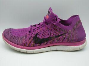 Nike Free 4.0 Flyknit Size 9.5 Plum Running Shoes Free Run 717076-503 Training