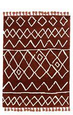 Linon Marrakech Zot Rust Ivory Area Rugs 5' x 7' RUGMK1057