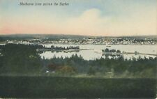 Shelburne NS Nova Scotia , From Across The Harbor Vintage R.H. Davis Postcard