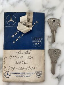 Bomoro ADL Mercedes Door Trunk Key 300SL OEM