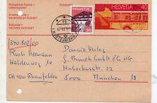 Suiza Entero Postal con franqueo complementario circulado año 1977 (DL-592)