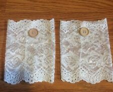 NEW! Womens Boutique Ivory Crochet Lace Boot Cuffs Toppers Socks Leg Warmers!!!!