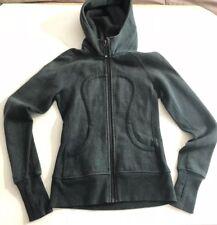 LULULEMON SCUBA HOODIE 4 Green Zip Up Hooded Sweatshirt Fleece Cotton Jacket