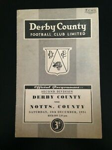 1954/5 DERBY COUNTY V NOTTS COUNTY