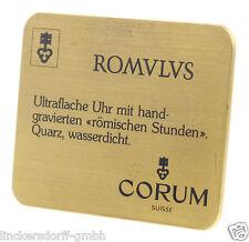 Corum ROMULUS display Scudo Per Gioiellieri-circa 80er anni