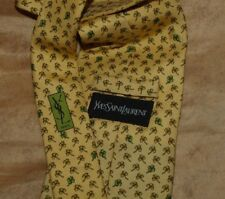 Yves Saint Laurent ;  Cravatta ,  Necktie , Cravate 100% Seta Silk