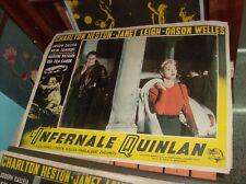 L'INFERNALE QUINLAN fotobusta originale 1958 HESTON LEIGH WELLES DIETRICH tipo C
