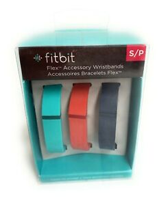 NEW FITBIT FLEX ACCESSORY WRISTBANDS SIZE S/P 3 COLORS TEAL, NAVY BLUE ,RED