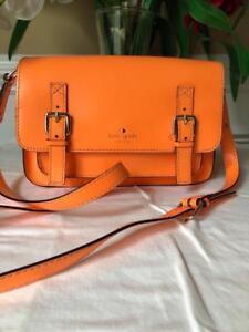 Kate Spade Esses Scout bright orange Bag purse messenger bag (u150