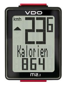 VDO M2.1 WR Fahrradtacho Fahrradcomputer kabelgebunden Radtacho Bike Kabeltacho