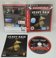 Heavy Rain Move Edition Essentials  PS3 Playstation 3 VGC FAST FREE UK POST