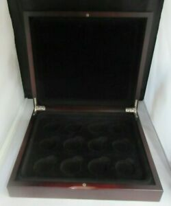 WOODEN COIN BOX HOLDS UP TO 12 £5 OR CROWN SIZED ENCAPSULATED COINS