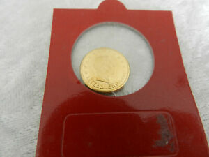2 centime cent EURO Luxembourg 2002 plaqué or